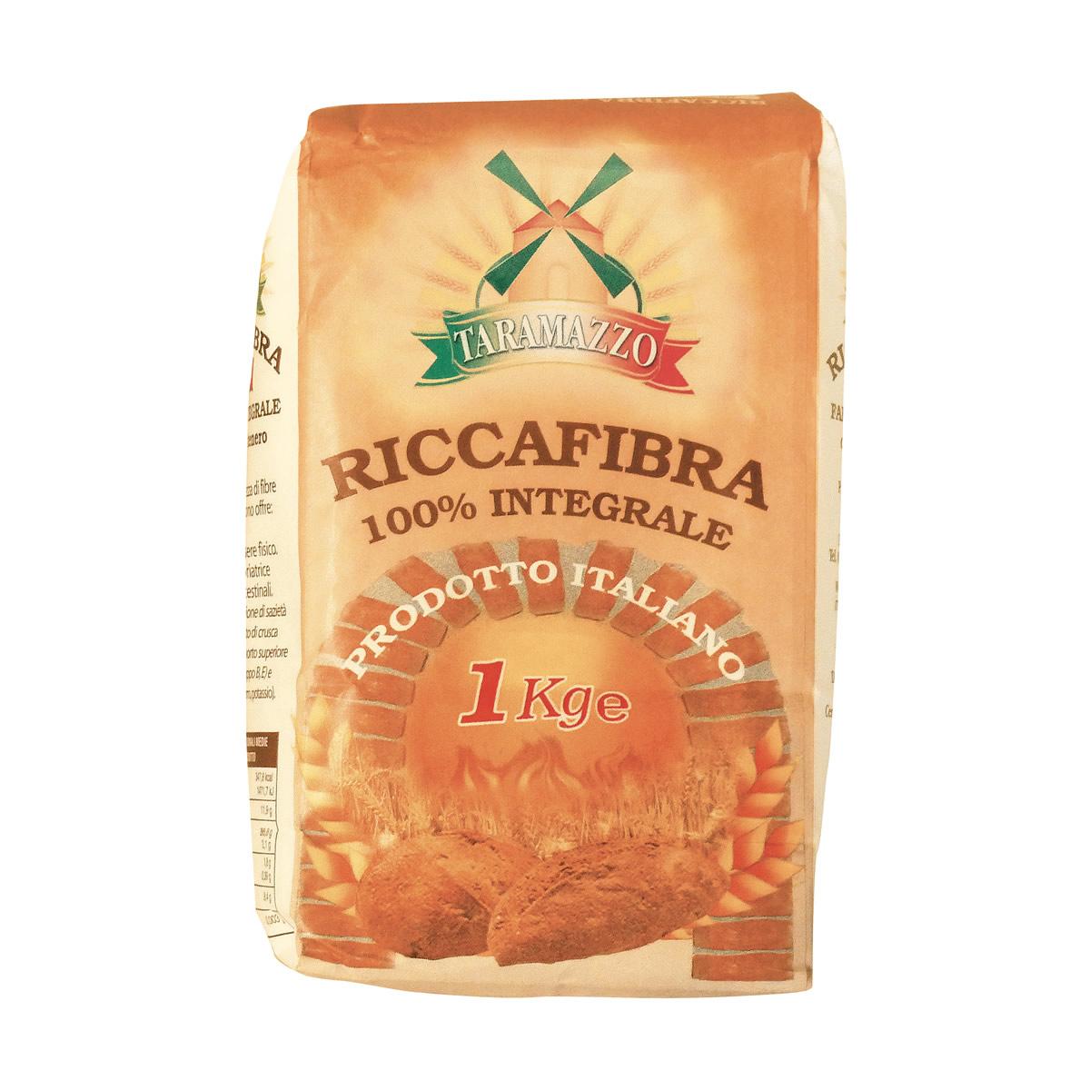 Farina integrale Riccafibra da 1 Kg.